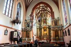 圣安妮的教会内部在维尔纽斯 图库摄影