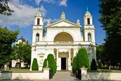 圣安妮的教会在Wilanow,华沙 图库摄影
