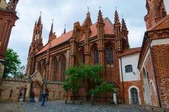圣安妮,维尔纽斯,立陶宛天主教会  免版税库存照片