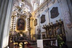 圣安妮` s教会在克拉科夫在波兰 免版税库存照片