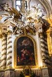 圣安妮` s教会在克拉科夫在波兰 免版税库存图片