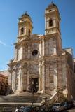圣安妮` s教会外部在卡利亚里,撒丁岛 免版税库存照片