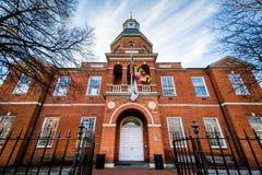 圣安妮Arundel县法院,在安纳波利斯,马里兰 库存照片