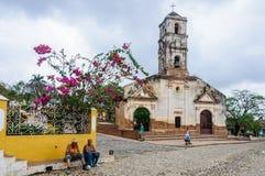 圣安娜教会在特立尼达,古巴 图库摄影