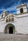 圣安娜教会在Maca,科尔卡峡谷,秘鲁 免版税库存照片