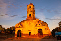 圣安娜殖民地天主教会的废墟在特立尼达, 免版税库存图片