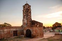 圣安娜殖民地天主教会的废墟在特立尼达, 免版税库存照片