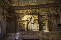 圣安德烈亚斯惊人的教会在罗马意大利 免版税图库摄影