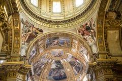 圣安德烈亚斯惊人的教会在罗马意大利 图库摄影