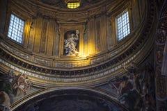 圣安德烈亚斯惊人的教会在罗马意大利 免版税库存照片