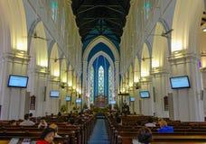 圣安德鲁大教堂内部在新加坡 库存照片