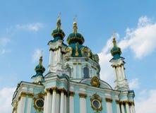 圣安德鲁教会在基辅,乌克兰 免版税库存图片