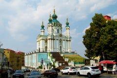 圣安德鲁教会在基辅,乌克兰 库存图片