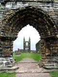 圣安德鲁斯大教堂,苏格兰废墟  免版税库存照片