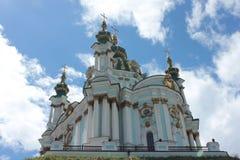 圣安德鲁斯教会在基辅 免版税库存照片