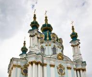 圣安德鲁斯教会,基辅乌克兰 免版税库存图片