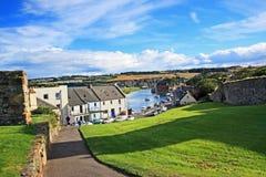 圣安德鲁斯,鼓笛,苏格兰全景  免版税库存图片