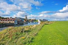 圣安德鲁斯,鼓笛,苏格兰全景  库存图片