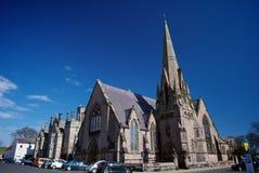 圣安德鲁的华莱士绿色和苏格兰的Lowick教会 图库摄影