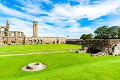 圣安德鲁,苏格兰,英国, 2016年9月17日 圣安德鲁废墟  库存照片
