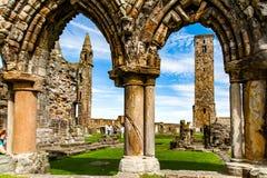 圣安德鲁,苏格兰,英国, 2016年9月17日 圣安德鲁废墟  免版税图库摄影