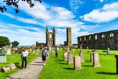 圣安德鲁,苏格兰,英国, 2016年9月17日 圣安德鲁废墟  免版税库存图片