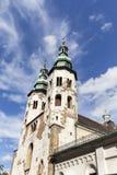 圣安德鲁11世纪教会在老镇,克拉科夫,波兰 库存照片