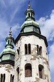 圣安德鲁11世纪教会在老镇,克拉科夫,波兰 库存图片