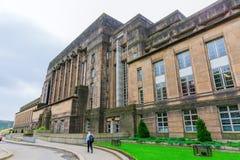 圣安德鲁` s议院,苏格兰政府的大厦,在爱丁堡 免版税库存图片
