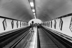 圣安那` s隧道,安特卫普 免版税库存图片