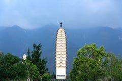 崇圣寺的Qianxun塔在大理,云南 免版税库存照片