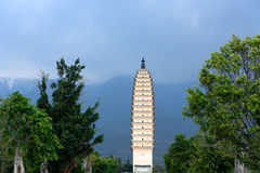 崇圣寺的Qianxun塔在大理,云南 库存图片