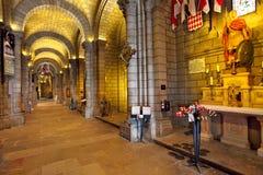 圣尼古拉大教堂内部看法在摩纳哥。 库存图片