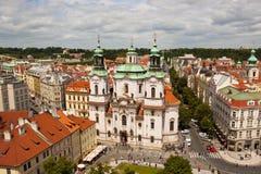 圣尼古拉大教堂在布拉格 免版税库存图片