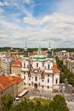 圣尼古拉大教堂在布拉格 免版税库存照片