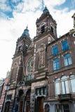 圣尼古拉大教堂在阿姆斯特丹 免版税库存照片