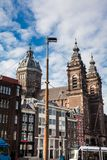 圣尼古拉大教堂在阿姆斯特丹 库存图片