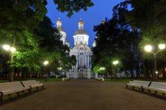 圣尼古拉大教堂,圣彼得堡,俄罗斯 免版税库存照片