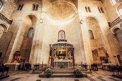 圣尼古拉大教堂,在巴里,意大利 免版税库存图片