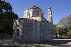圣尼古拉拜占庭式的教会Fountoukli的 免版税库存照片