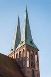 圣尼古拉教会在柏林 库存图片