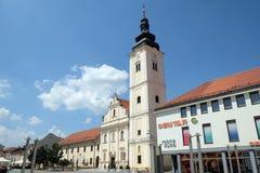 圣尼古拉教会在Cakovec,克罗地亚 免版税库存图片