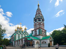 圣尼古拉教会在Khamovniki是17世纪末 M 免版税库存照片
