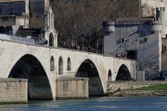 圣尼古拉教堂阿维尼翁桥梁的  库存图片