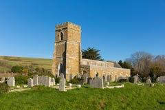 圣尼古拉斯多西特英国Abbotsbury教会  库存图片