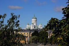 圣尼古拉斯大教堂在赫尔辛基 库存照片