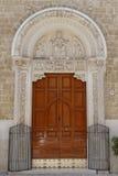 圣尼古拉斯大教堂门 库存照片