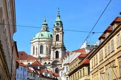 圣尼古拉斯教会在布拉格一点镇  免版税图库摄影