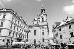 圣尼古拉斯教会在布拉格,捷克共和国 库存图片