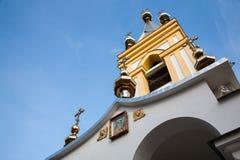 圣尼古拉斯教会在柯达Dnipro中 库存图片